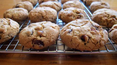 Toasted oatmeal pecan and chocolate cookies