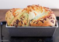 Cheesy Pesto Swirl Bread