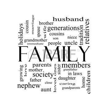 black & White Family
