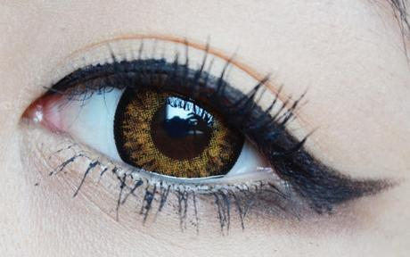 brown colored lenses on brown eyes