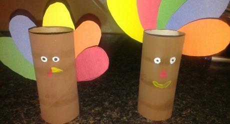 DIY Toilet Paper Roll Turkey Craft Idea