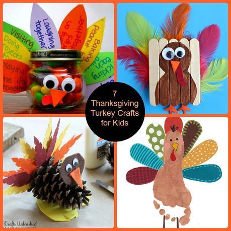 7 Thanksgiving Turkey Crafts for Kids