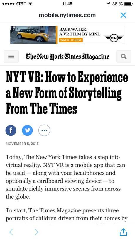 This New York Times' virtual reality is fun
