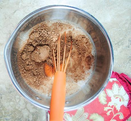 Low Sugar, Dairy Free Hot Chocolate with Creamy Pumpkin