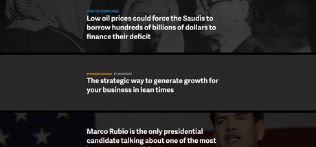The Quartz homepage gains renewed attention