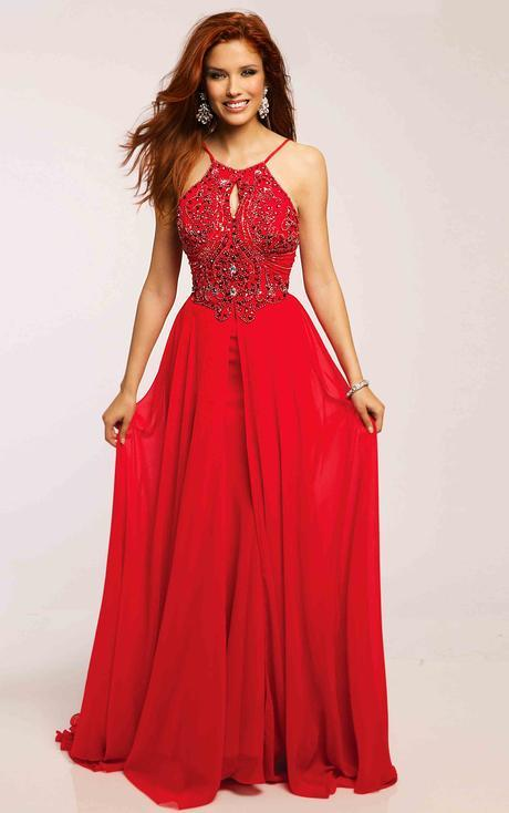 Shimmering Beaded Halter Neck Sleeveless Long A-line Blue Prom Dress _4
