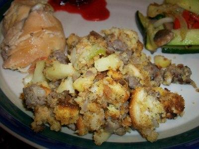 Corn Bread with Apple Stuffing