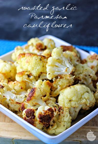 Roasted Garlic Parmesan Cauliflower