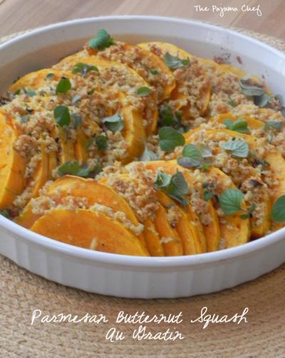 Parmesan Butternut Squash Au Gratin