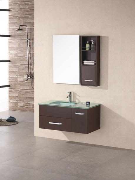christine single bathroom vanity modern sleek design style top most best affordable value money saving discount minimal floating wall mounted space saving efficient small bathroom integrated glass counter wood high quality trade winds imports