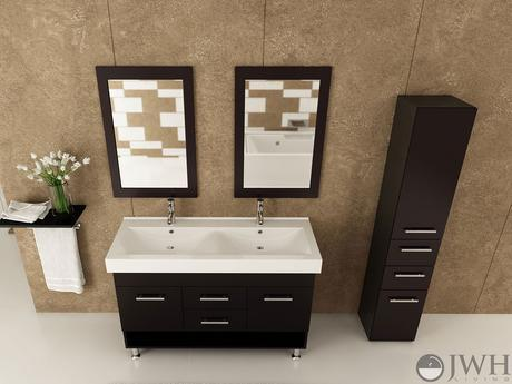 rigel double sink vanity dual large modern sleek design style top most best affordable value money saving discount minimal bathroom integrated counter dark black espresso jwh living trade winds imports
