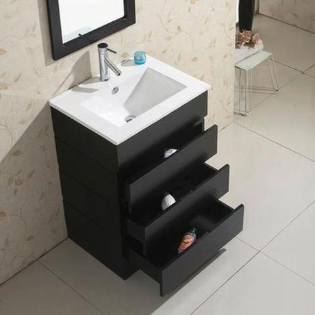 bruno single bathroom vanity modern sleek design style top most best affordable value money saving discount minimal integrated dark black espresso counter ceramic storage extra high quality