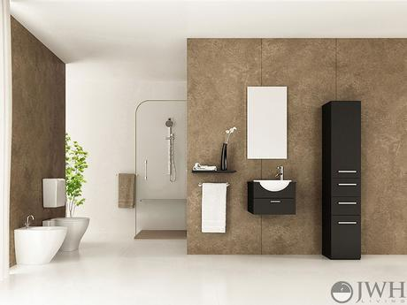 mirai single bathroom vanity modern sleek design style top most best affordable value money saving discount minimal floating wall mounted space saving efficient small bathroom integrated dark black espresso