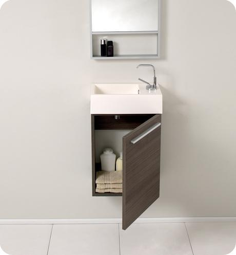 pulito single bathroom vanity modern sleek design style top most best affordable value money saving discount minimal floating wall mounted space saving efficient small bathroom integrated gray gray oak wood trade winds imports counter ceramic