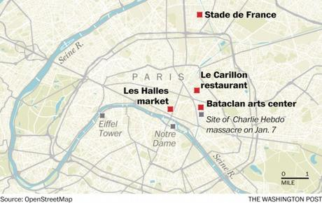 Excellent map of four of the shooting locations