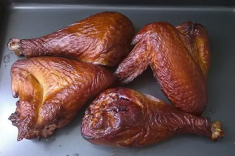Smoked Turkey WIngs and Drumsticks