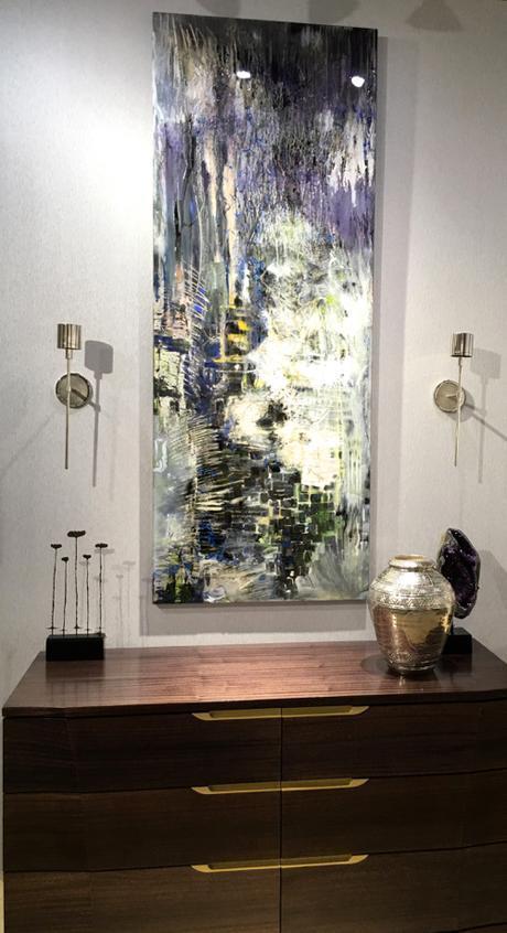 Joe Diggs Textural Abstract Panel at Webster & Company