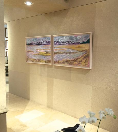 Judyth Katz Abstract Landscape At Webster & Company
