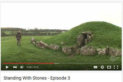 The Fossilised Tree at the heart of the Bryn Celli Ddu long barrow on Druidic Anglesey
