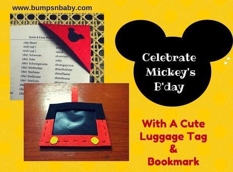 2 Mickey Mouse Crafts to Celebrate His Birthday Tomorrow