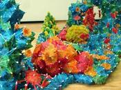 Colourful Coral Reef Sculptures