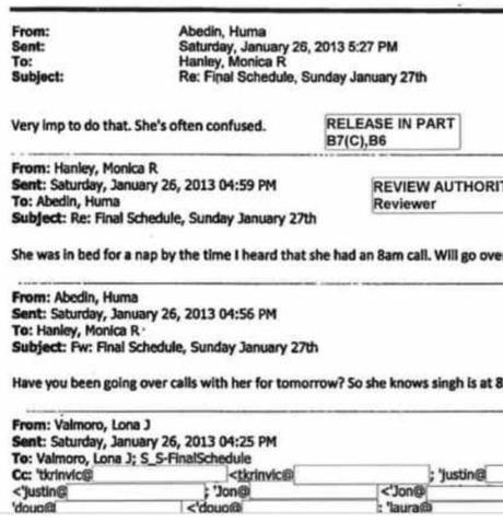 clinton confused email