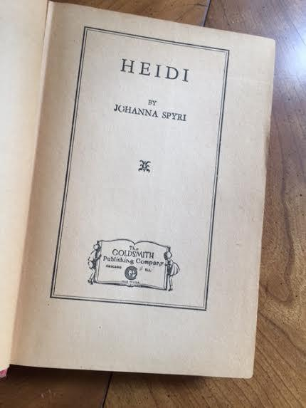 Heidi by Johanna Spyri for German Literature Month (A Guest Post by my Mother)