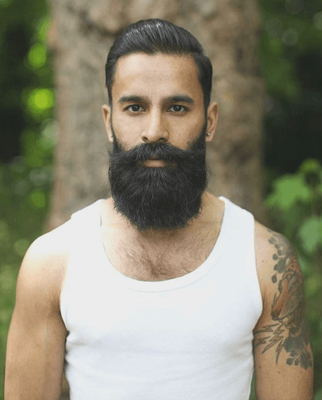 The undercut and beard combination done right