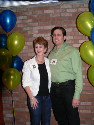 Tracey Wills & Dann Staddler at a reunion of the Washington High School Class of 1980 Germantown