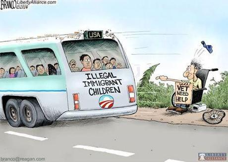 Obama favors illegals over vets