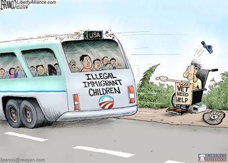 Obama favors illegals over vets