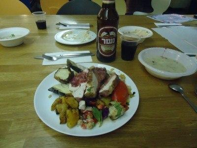 My feast at the Shabbat Dinner