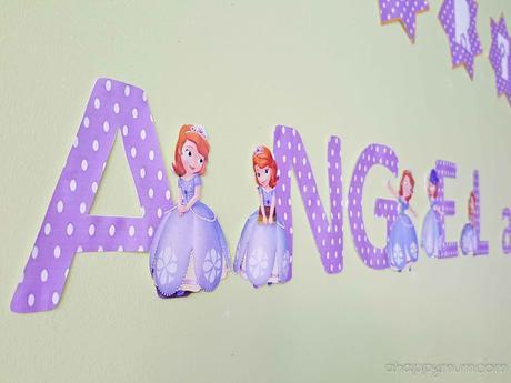 Creativity 521 #80 - DIY Sofia the First Party Wall Decor - Paperblog