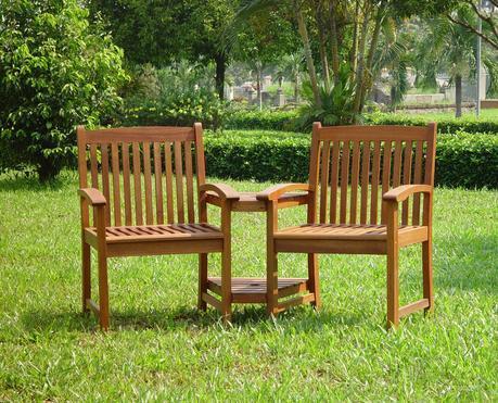 2 Seater Keruing Love Seat
