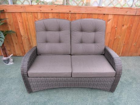 2 Seater Reclining Rattan Sofa