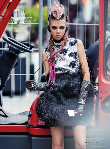 Léa Julian in Giambattista Valli Haute Couture @ Benjamin Kanarek