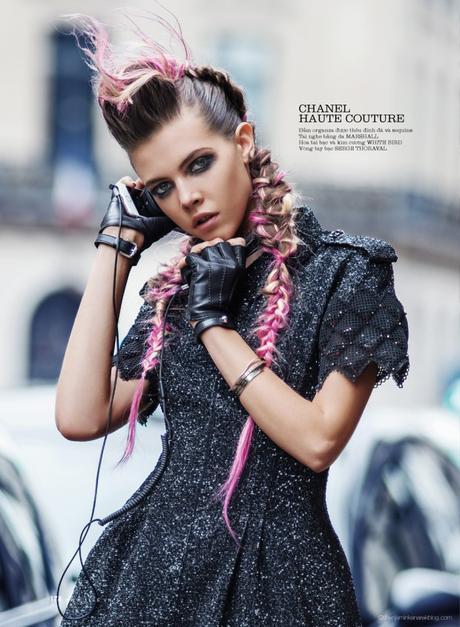 Léa Julian in Chanel Haute Couture @ Benjamin Kanarek