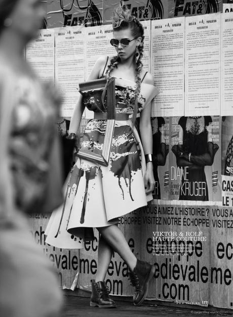 Léa Julian in Viktor & Rolf Haute Couture @ Benjamin Kanarek
