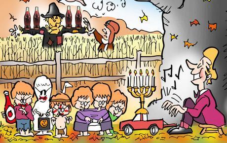 fall fun activities foliage Halloween trick or treaters football tailgating truck piano corn maze scarecrow Coca-Cola Amelia Earhart