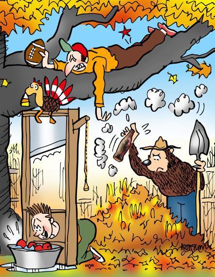 fall fun activities foliage bob apples guillotine pine cone turkey touch football pull hamstring burn leaves bonfire Smokey Bear