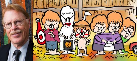 fall fun activities foliage Halloween trick or treaters kids all have red hair and little round glasses like their father author Charles McNair