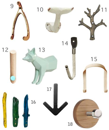 Get The Look: 38 Decorative Wall Hooks