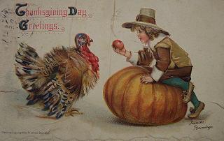 Image: Vintage Thanksgiving Day Postcard