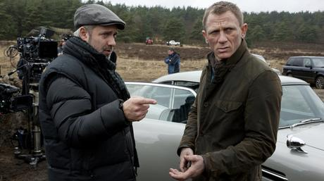 Daniel Craig takes some direction from director Sam Mendes on set.
