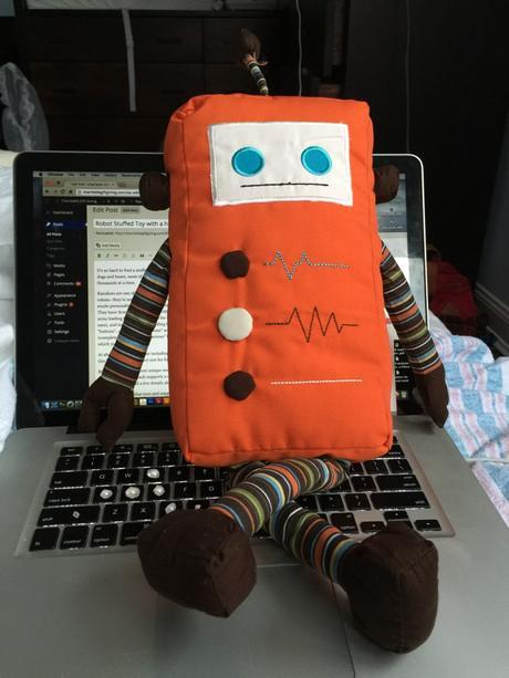 Robot Stuffed Toy with a heart #kausbot #kauzkrew