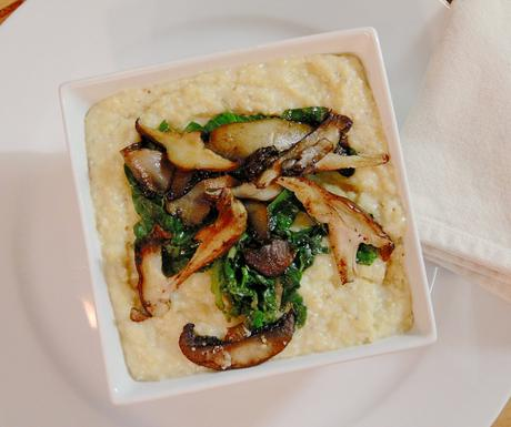 Polenta with Chard & Wild Mushrooms