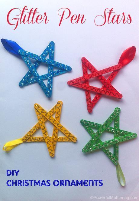 Easy-christmas-ornaments-for-kids-glitter-stars