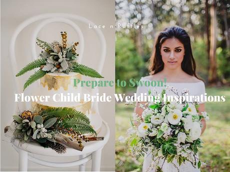 Prepare to SWOON! Flower Child Bride Wedding Inspirations