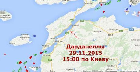 RussianShipsStoppedAtDardanelles