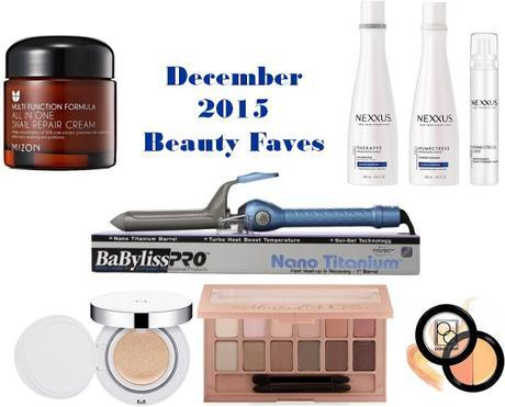 Beauty Favorites - December 2015
